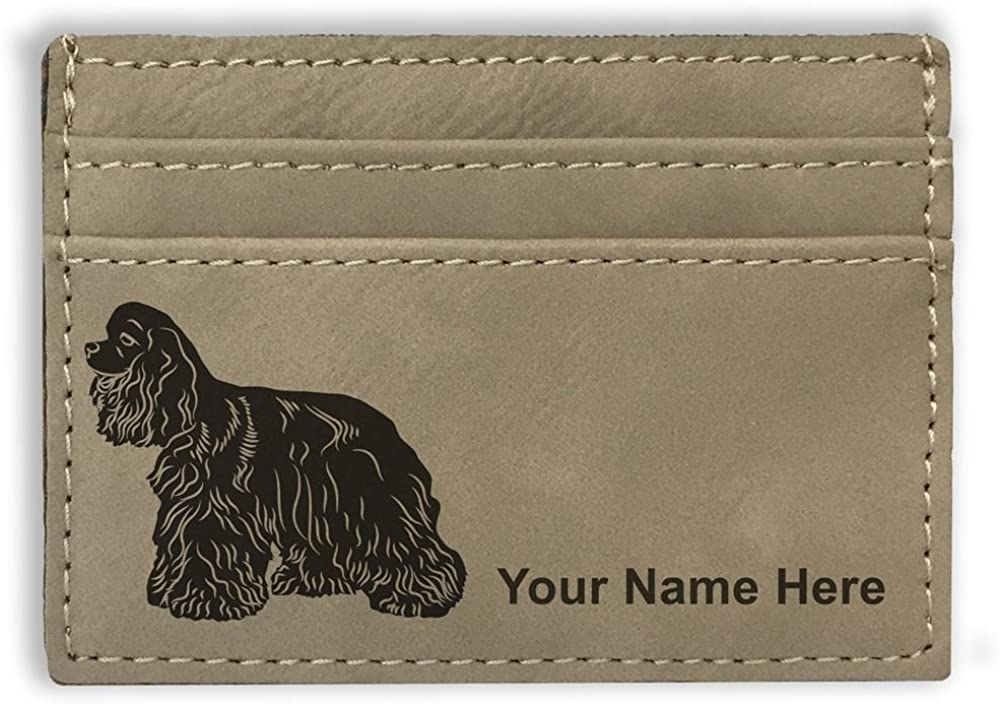 Money Clip Wallet, Cocker Spaniel Dog, Personalized Engraving Included