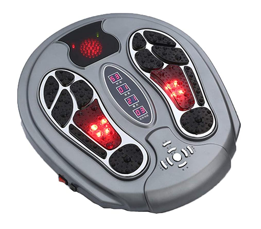 通知する廃棄するミュージカル調整可能Foot Massager Stimulator - Booster Circulation、身体を刺激する99の強度設定、赤外線機能付き リラックス