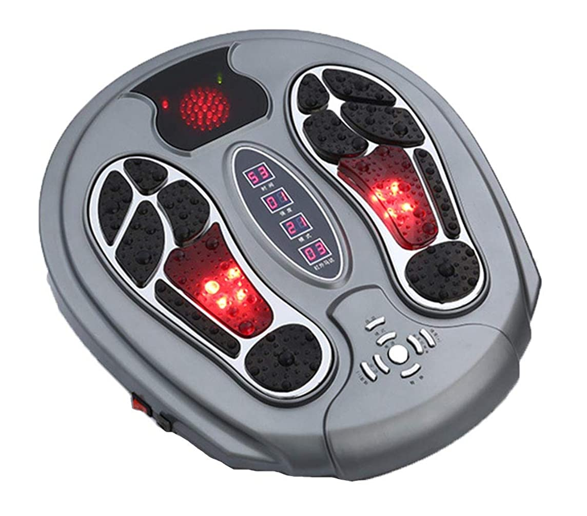 リズム行為焦げ調整可能Foot Massager Stimulator - Booster Circulation、身体を刺激する99の強度設定、赤外線機能付き リラックス