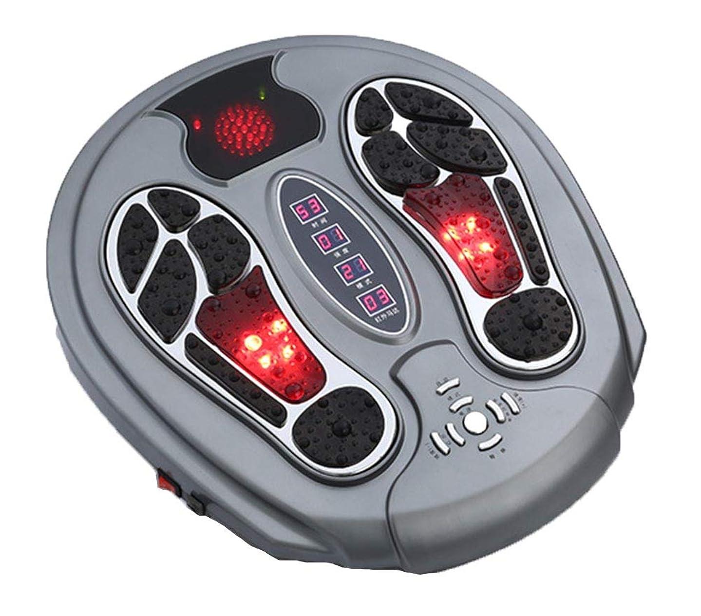 郊外報酬の診療所調整可能Foot Massager Stimulator - Booster Circulation、身体を刺激する99の強度設定、赤外線機能付き リラックス
