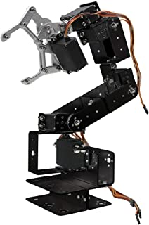 Aideepen ROT3U 6DOF Aluminium Robot Arm Black Mechanical Robotic Clamp Claw for Arduino Without Servo