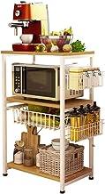 ZW-household Estantería Metálica para Microondas Cocina Estante Estanterías de Cubos Estante para Especias Estantes y Soportes para Cocina Multi-función Utensilios de Almacenamiento