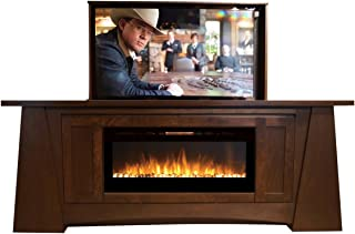 Pop Up TV Lift - Handcrafted Aspen Fireplace TV Lift Cabinet - ATL System (50
