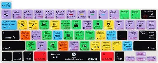 جلد صفحه کلید میانبرهای سیلیکونی XSKN Lightroom CC English Keyboard for 2019 New MacBook Pro 16 inch A2141 2020 New MacBook Pro 13.3 inch A2338 M1 / A2251 / A2289 with Touch Bar