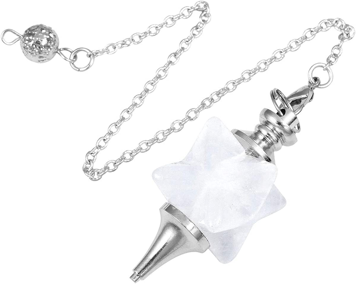 TUMBEELLUWA Healing Crystal Pendulum Chakra Quartz Dowsing Energy Stone Divination Reiki Meditation Balancing