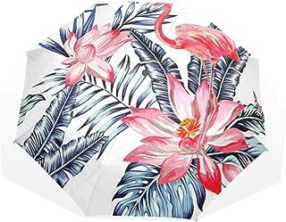 Umbrella Nature Boho Butterfly Wildflowers Travel Golf Sun Rain Windproof Umbrellas with UV Protection for Kids Girls Boys