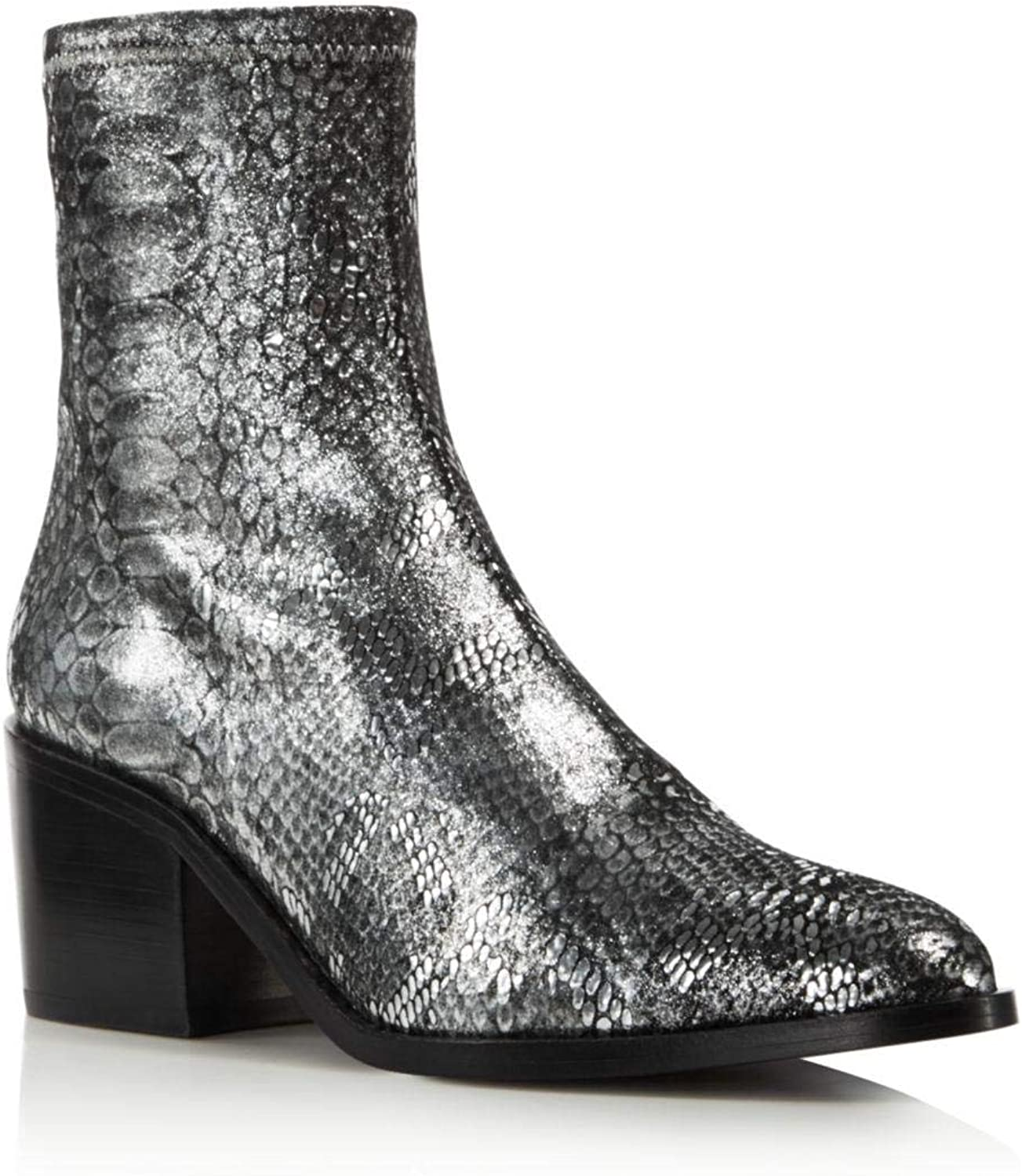 Opening Ceremony Womens Livv Snake Closed Toe Mid-Calf Fashion Boots