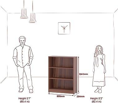 Klaxon Beehive Home Decor Book Shelf-Asian Walnut