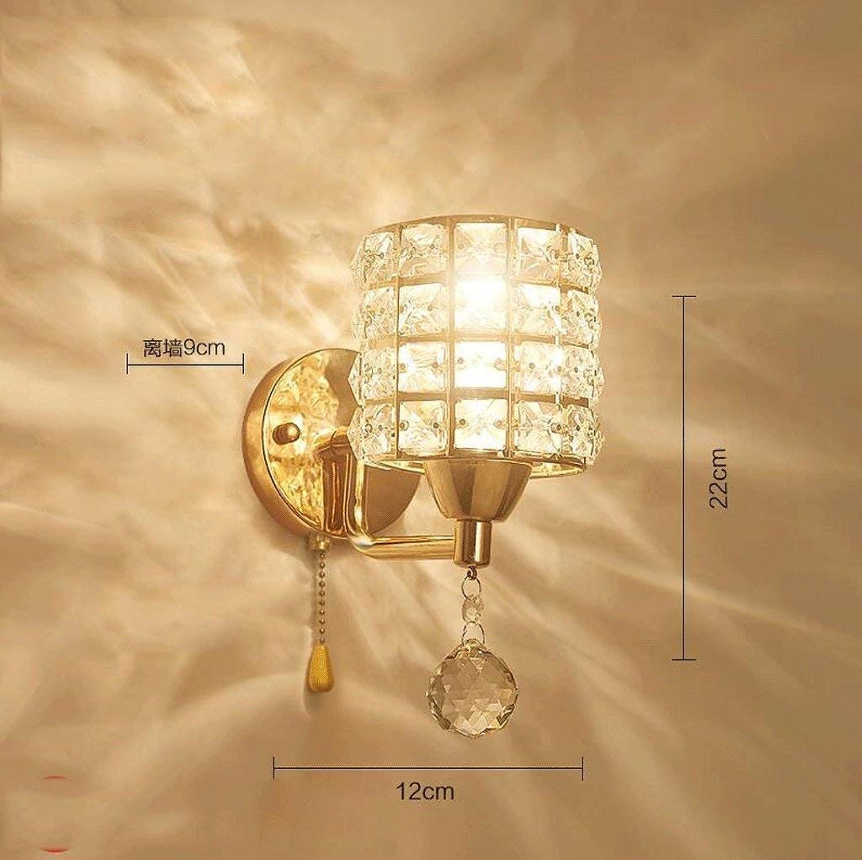 HhGold Eisen Lampe Wand Lounge Das Schlafzimmer Wand Bett Lampen und Rhren im Hotel verpflichtet, Beleuchtung (Farbe  Klar 12  22 cm). (Farbe   Clear-12  22cm)