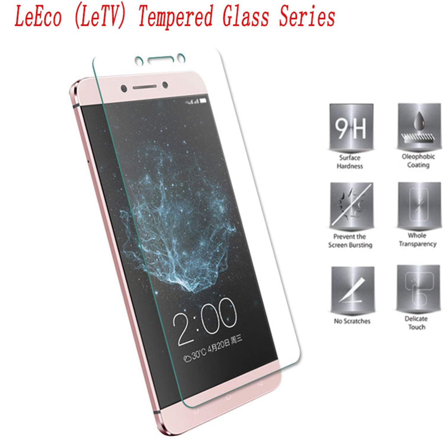 Protector de Pantalla para,2PCS Smartphone Tempered Glass Protective Film Screen Protector For Leeco Letv One Pro Cool 1 Le 2 Pro 1S S3 MAX 2 Le 2: Amazon.es: Electrónica