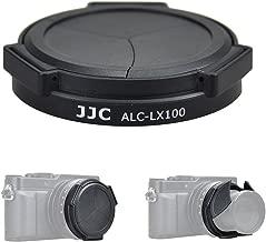 JJC Auto Open and Close Lens Cap for Panasonic DC-LX100II,DMC-LX100,Leica D-LUX7,D-LUX (Typ 109) Camera, Replaces Panasonic DMW-LFAC1 Auto Lens Cap - Black Version