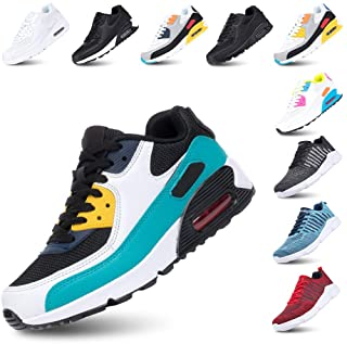 Mens Trainers Women Sport Shoes Running Lace up Sneakers Low Top Ladies Casual Breathable Mesh Footwear Waking Fitness Bla...