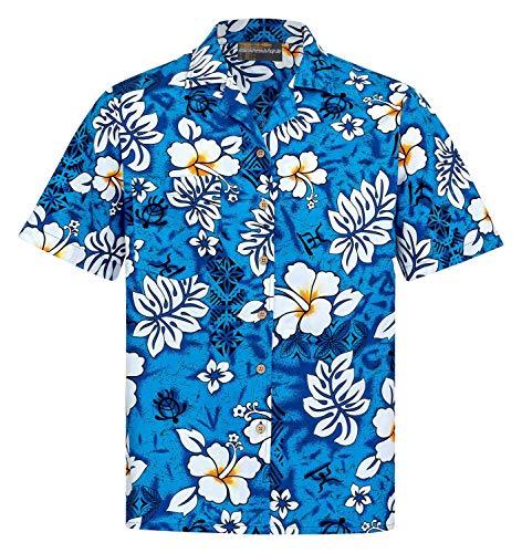 Camicia Hawaiana | Uomo | Vintage | 100% Cotone | Taglia S - 8XL | Versioni Diverse | Manica Corta | Fiore | Fiori | Ibisco | Aloha | Hawaii | Hawaiiana