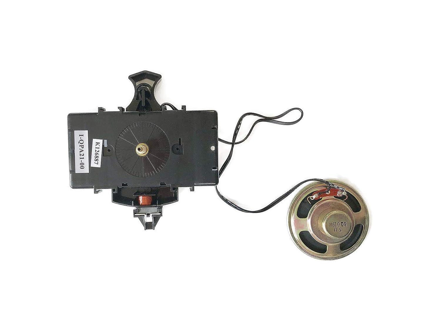 Replacement Battery Quartz Movement for Hermle 2214, 2215 or Any Clock, DIY Clock Kit with Howard Miller 354472 / Kieninger QPA11 Pendulum Unit, 16mm Shaft Length