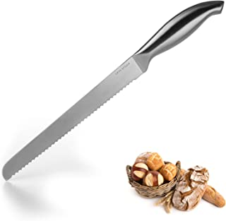 LARS NYSØM – Cuchillo panero Edge δ de acero inoxidable, hoja 23 cm – Cuchillo de cocina, calidad profesional – Cuchillo para pan con hoja de sierra extra afilada y mango ergonómico