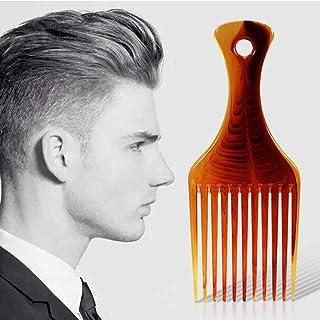 ヘアブラシプラスチックヘアカラーコームズ琥珀色の滑らかなヘアピックコーム理髪スタイリングツール持ち上がるデタングルヘアコーム