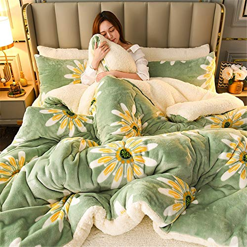 YAOYI Lamb Velvet Winter Quilt, Cashmere Core, Thicken Lamb Velvet Duvets,Super Soft and Warm Quilt,Anti-Allergy Hygroscopic Breathable (3,180 x 200 cm 3KG)