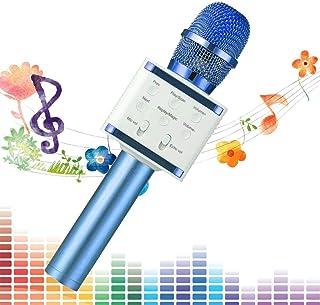 SaponinTree Microphone sans Fil Karaoké, Micro Karaoké Bluetooth Portable pour Enfants/Adultes Chanter, Compatible avec An...