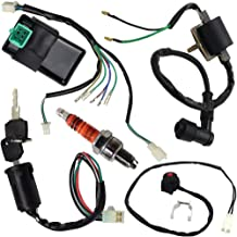 Wire Harness Wiring Loom CDI Ignition Coil Kill Switch Spark Plug Rebuild Kit for 125CC 110CC 90CC 70CC 50CC ATV Go Kart Kick Start Dirt Bike Pit Bike Quad Bike by TOPEMAI