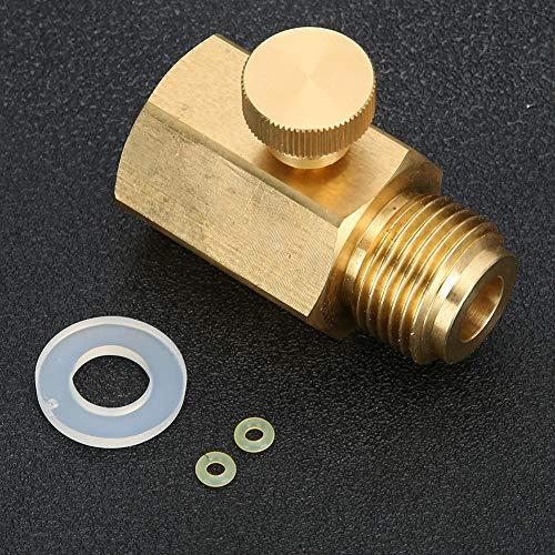 Nannday 【??????????????????】 Soda Adapter Stecker, bequemer hochwertiger Messing Soda Adapter mit dichtem Gewinde, SodaStream Soda Zylinderdichtung