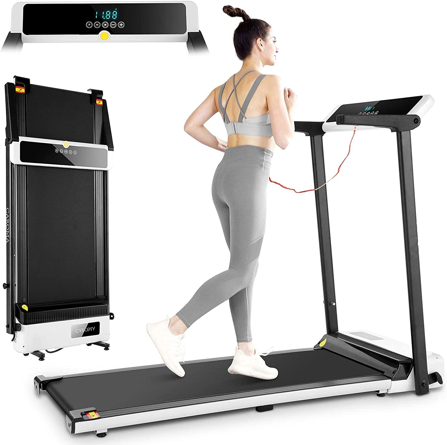 18%OFF CAROMA 数量は多 Foldable Treadmills for Home Electric 2.5HP Treadmill Wo
