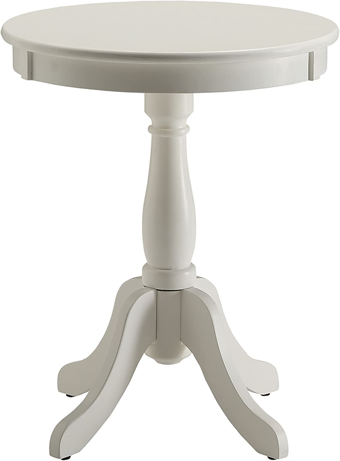ACME Furniture Acme 82804 Alger Side Table, White, One Size