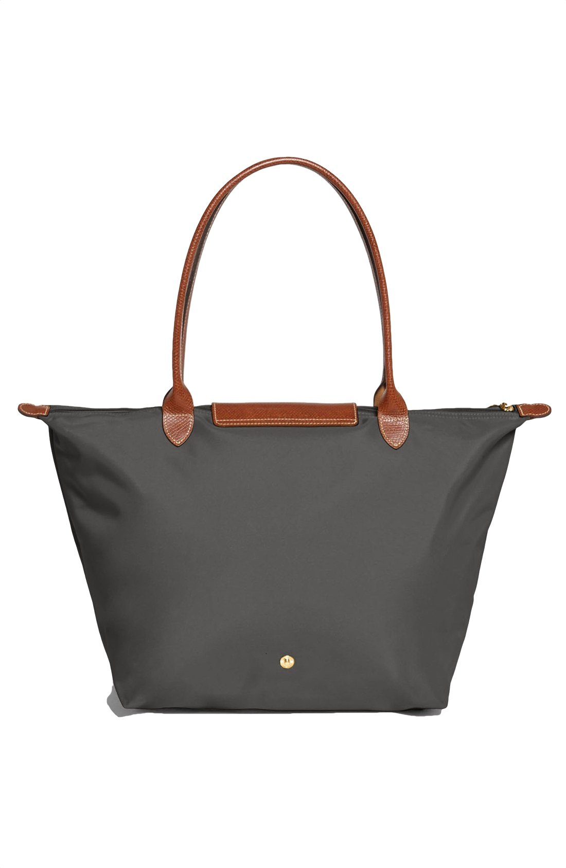 Longchamp Le Pliage Large Shoulder Tote Bag Gunmetal