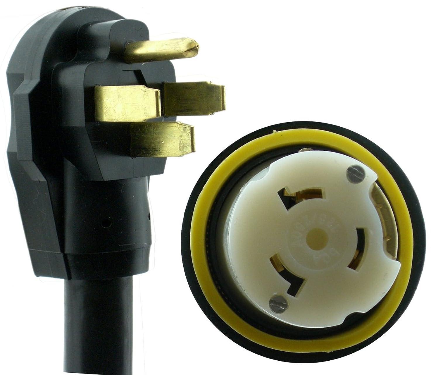 NU-CORD 94561M 50-Feet 50-Amp Rv Cord with Marine Locking Connector