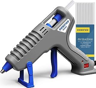 中小型 グルーガン elesories 35W 高温 ぐるーがん 手芸用 木工用 diy 補修 工具セット スティック10本付 強力