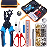 Best Scissors Set For Fabric Leathers - Glarks Adjustable Leather Hole Punch Pliers with Single Review