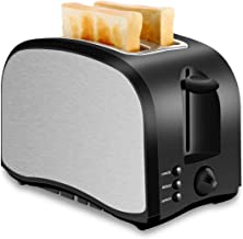 2 Slice Toaster, Chitomax Toasters with 2 Extra-Wide Slots, 2 Slot Toasters, Top Rated Best Prime, Stainless Steel with Po...