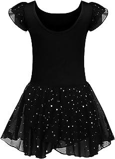 6d757cd56a7c1e Kinder Ballettkleidung Ballettkleid Mädchen Kurzarm Baumwolle Balletttrikot  Ballettanzug Tanzkleid Tanzbody mit Rock Tütü