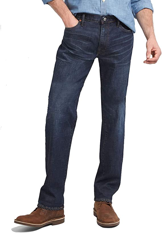 Gap Jeans Para Hombre Pantalon De Mezclilla Recto Deslavado Modelo 355317 Talla 31x32 Azul Amazon Com Mx Ropa Zapatos Y Accesorios