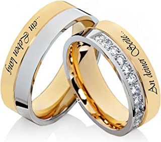 Wedding Rings Stainless Steel Wedding Band Engagement Rings Made of Stainless Steel With Laser Engraving Free External L083