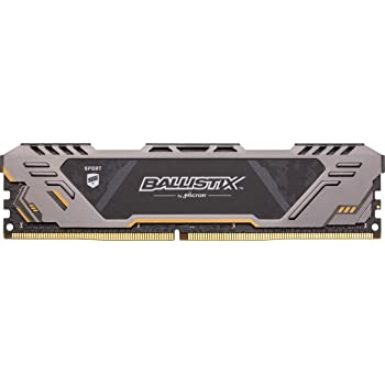 Crucial Ballistix Sport at 3000 MHz DDR4 DRAM Desktop Gaming Memory Single 16GB CL17 BLS16G4D30CEST
