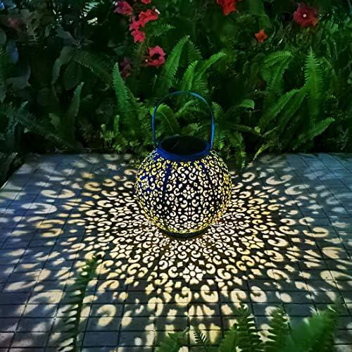 Solar Large Lantern Outdoor Hanging Lights Metal Decorative Garden Lights Waterproof Table Lamp product image