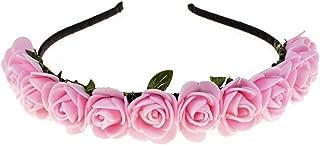 Love Sweety Boho Floral Crown Rose Flower Headband Hair Wreath