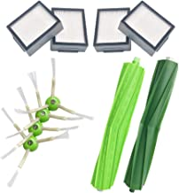 CKL&DJ for iRobot Roomba i7 i7+ Replacement Parts Kit, i Series i7 E5 Replenishment Kit (4 Filters, 4 Brushes, 1 Set Multi-Surface Rubber Brushes)