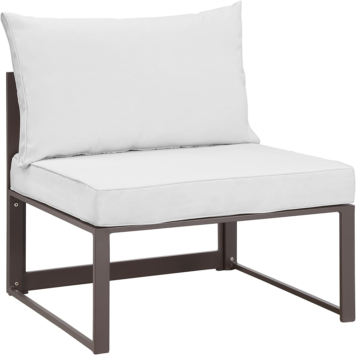 Modway Fortuna Aluminum Outdoor Patio Armless Chair 5 ☆ very Ranking TOP6 popular Whi in Brown