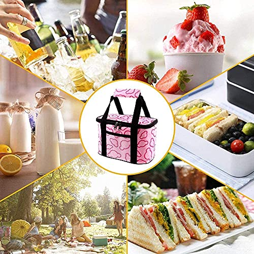 MVNZXL Lunch Bag, Small and Thick Oxford Cloth Thermal Insulation Lunch Box, Multifunctional Waterproof Picnic Bag, Foldable, Suitable for Picnic, Camping, Barbecue(Color:5l Drak Blue)
