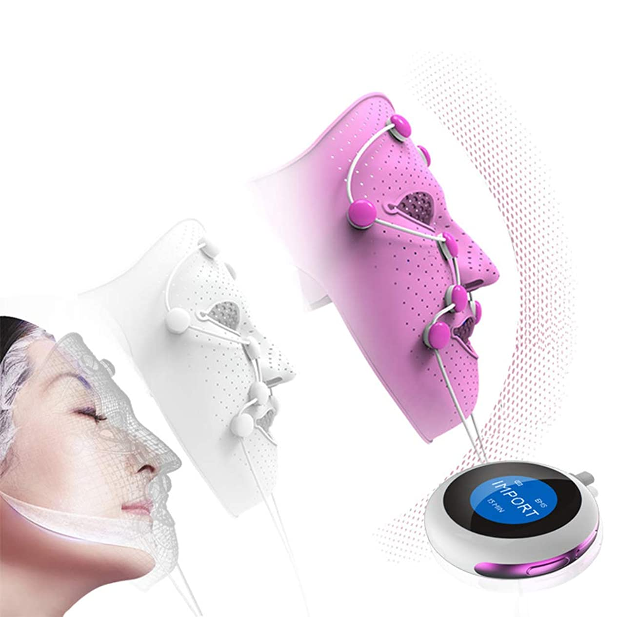 童謡貫通最大化するマッサージマスク楽器 美容マスク装置 肌の若返りを紹介 EMSフェイスリフティング 顔の解毒 美容機器 マスク機