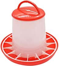Fan-Ling 1.5kg Capacity Food Distributor,Plastic Food Feeder Chicken Chick Hen Poultry Lid Handle,Versatile, can Hang with Included Hanger or sit on The Ground