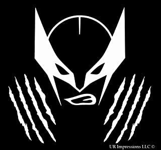 UR Impressions The Wolverine Mask Decal Vinyl Sticker Graphics Car Truck SUV Vans Wall Window Laptop|White|5.5 in|URI362