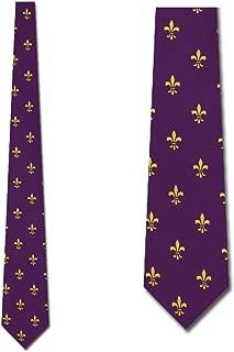 Fleur De Lis Ties New Orleans Neckties Purple Tie Mens Necktie