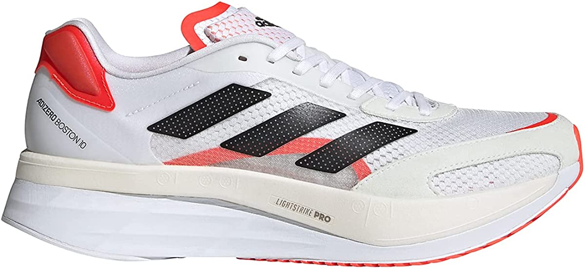 adidas 年中無休 Adizero Boston 10 Running Shoe White Men's FTW 毎日がバーゲンセール Bla - Core