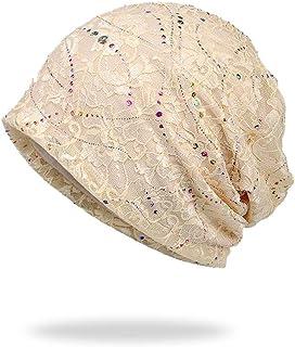 AWAYTR Chemo Cap Women Beanie Hat - Lace Head Scarf Turban Cancer Headwear  Head Wraps 987bb5777fed