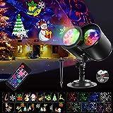 Luces de Proyector de Navidad, SGODDE Luz de Proyector con Luz LED de 14 Motivos, Dinámico/Estático Lámpara de...