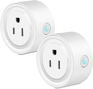 LinkStyle Minienchufe inteligente WiFi compatible con Alexa,