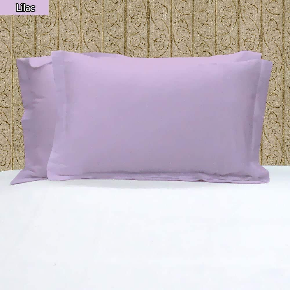Pride Beddings - Solid Pillow Sham 500 100% Max 81% OFF Cotton Egyptian Pair Award