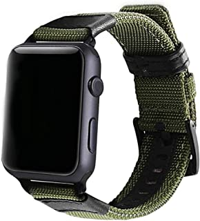 DaMohony Replacement Watch Band Military Strap, 38mm 42mm Nylon Strap ArmyGreen